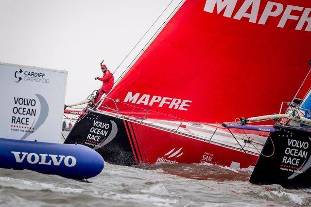 MAPFRE Volvo Ocean Race Regata costera en Cardiff