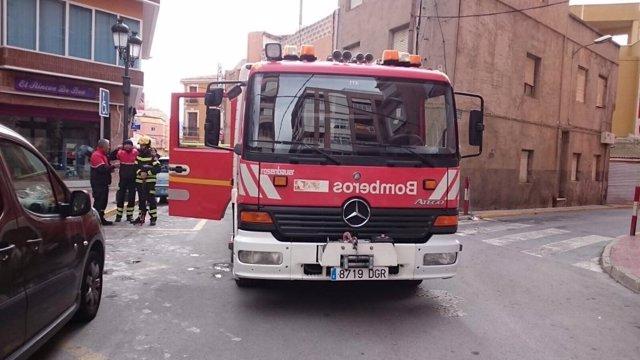 Coche de bomberos del Consorcio Provincial de Alicante, vehículo, incendio