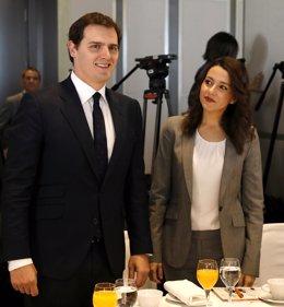 Albert Rivera e  Inés Arrimadas en El Ágora de elEconomista