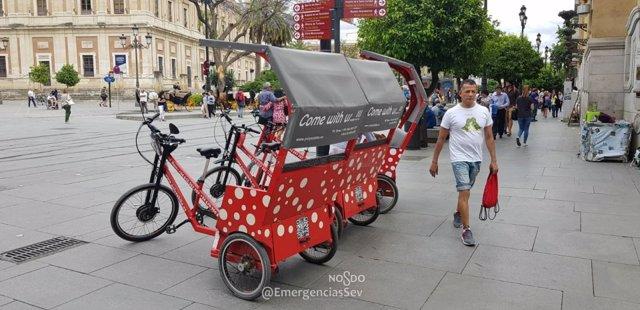 Triciclos de la empresa denunciada