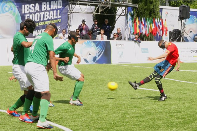 España Marruecos Mundial fútbol ciegos Youssef
