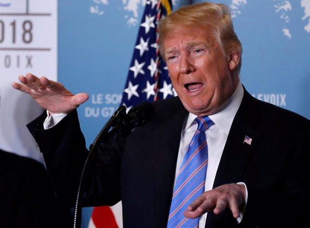 Donald Trump en la cumbre del G-7 de Charlevoix