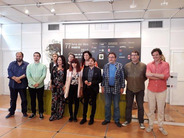 Acto institucional de Aragón en la Feria del Libro de Madrid.