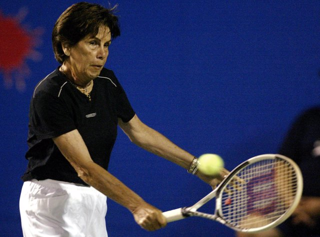 Former Brazilian great Maria Esther Bueno, winner of 19 Grand Slam s