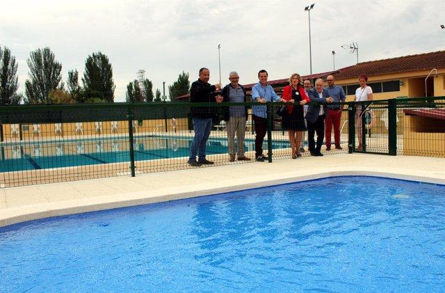 Inauguración de la ampliación de las piscinas de Monflorite.