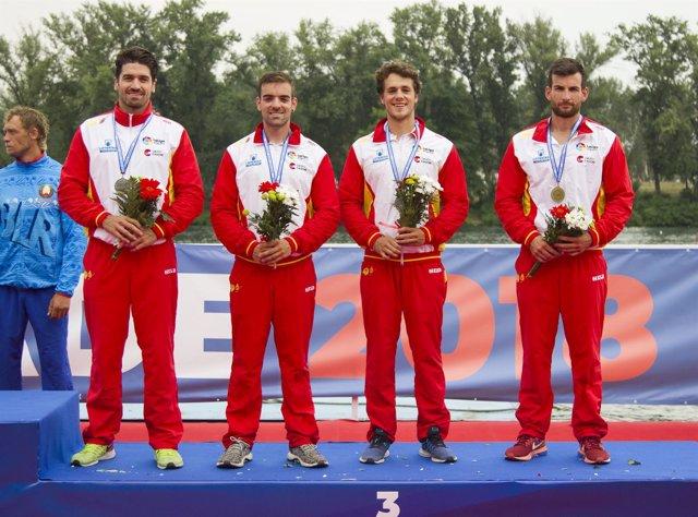 Belgrado 2018 - K4 1000 masculino - bronce