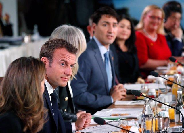 Emmanuel Macron, presidente de Francia, durante cumbre G-7 2018