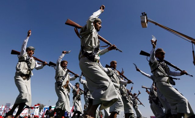 Foto de archivo de rebeldes huthis.