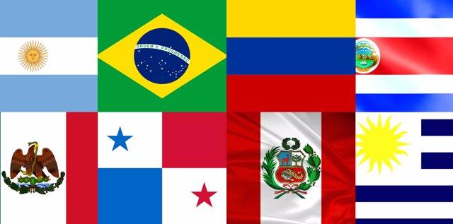 Banderas Mundial Iberoamérica