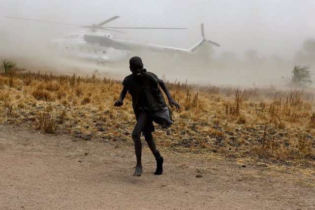 Niño refugiado en Sudán del Sur