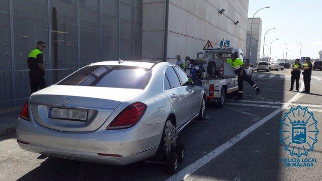 Vehículo VTC denunciado en Málaga
