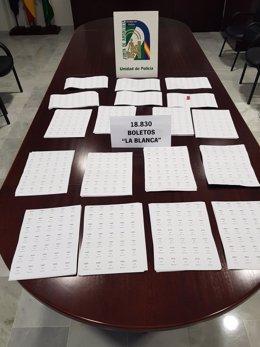 Lotería ilegal incautada en Puerto Real