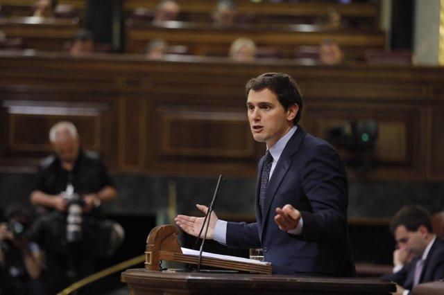 Albert Rivera en la moción de censura a Rajoy
