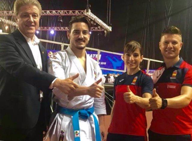 Sánchez y Damián Quintero karate katas