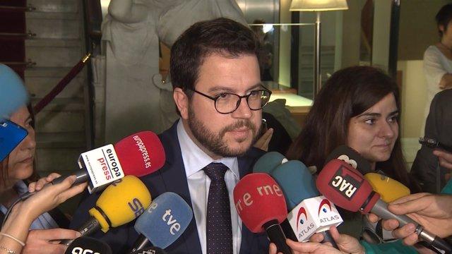 Pere Aragonès estrena su nuevo cargo