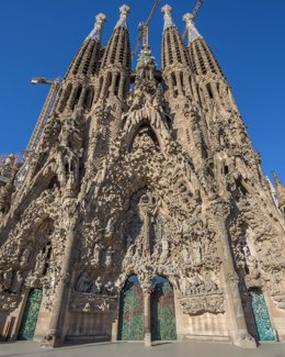 Exterior de la basílica de la Sagrada Família de Barcelona