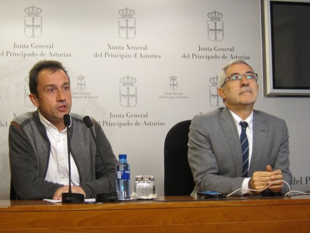 Ovidio Zapico y Gaspar Llamazares, IU Asturias
