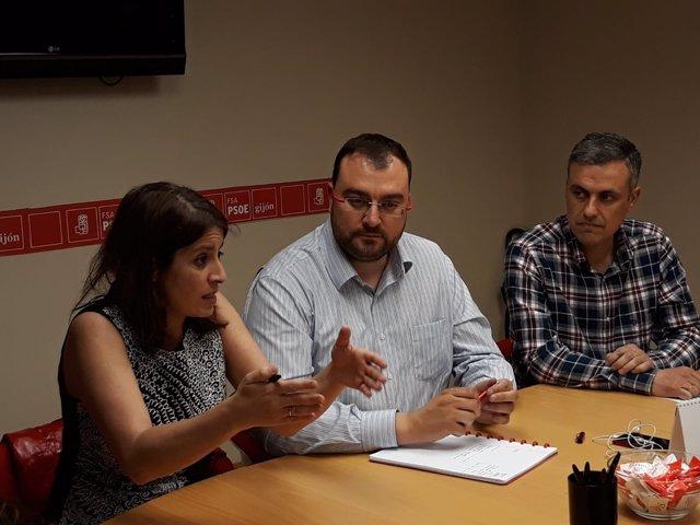 ADRIANA LASTRA, ADRIÁN BARBÓN E IVÁN ARDURA (PSOE)