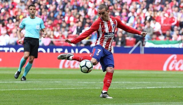 Griezmann, jugador del Atlético de Madrid, marcando un gol