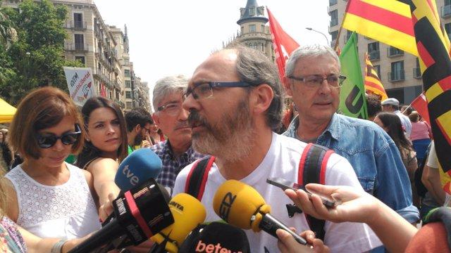 El portaveu de la Ustec·Stes, David Córdoba