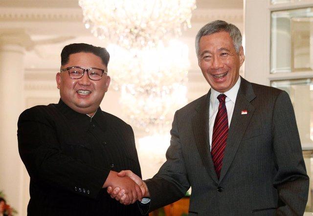 Kim Jong Un y Lee Hsien Loong