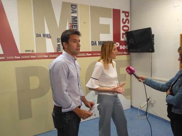 Cristina Maestre en la asamblea de la Agrupación Socialista de Daimiel
