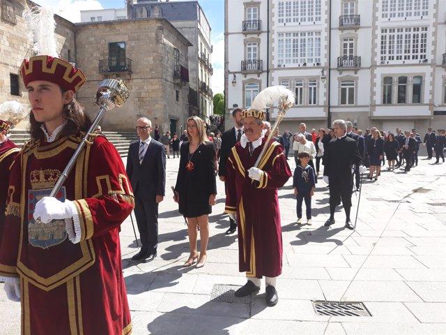 Ofrenda Antiguo Reino de Galicia en Lugo