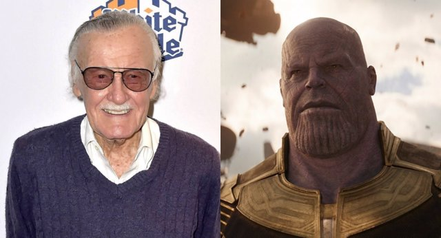 Stan Lee y Thanos en Infinity War