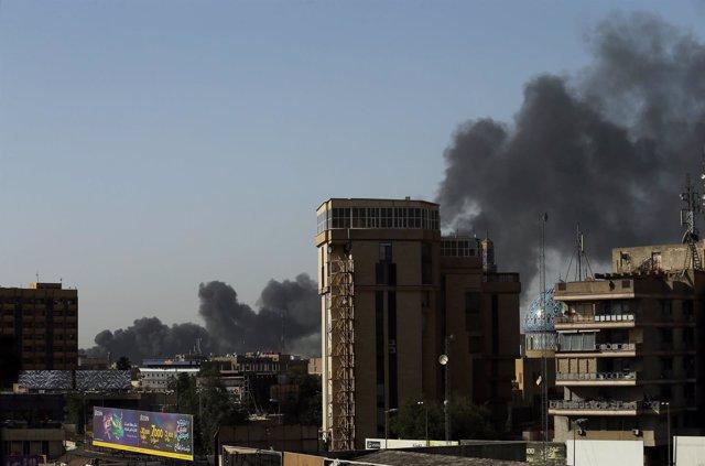 Incendio almacén electoral Bagdad