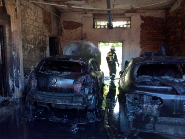 Incendio en el garaje de una vivienda en Caparroso