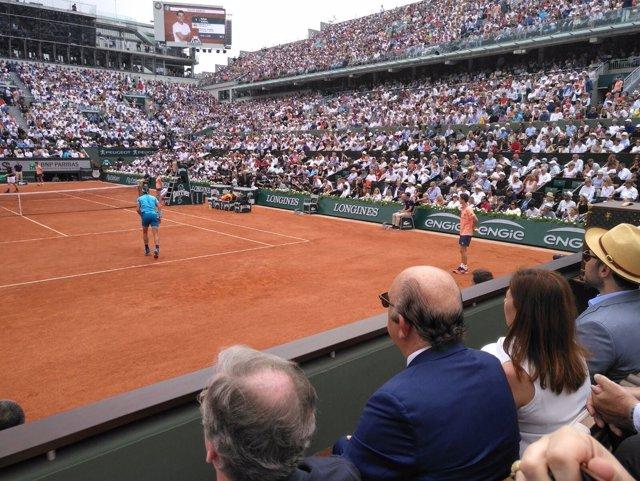 Armengol sigue la final de Roland Garros de Rafa Nadal