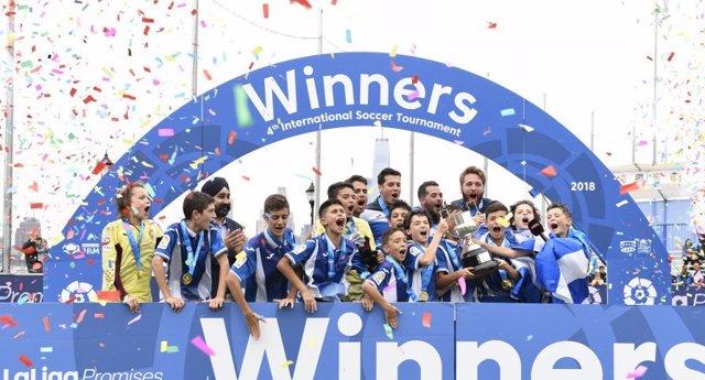 El RCD Espanyol se proclama campeón del IV Torneo Internacional de LaLiga Promis