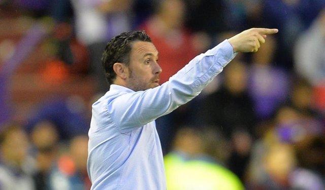 El entrenador del Real Valladolid, Sergio González.
