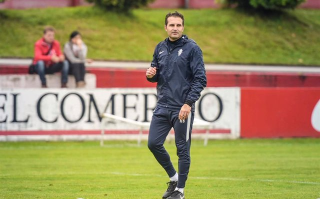 El entrenador del Real Sporting de Gijón, Rubén Baraja.