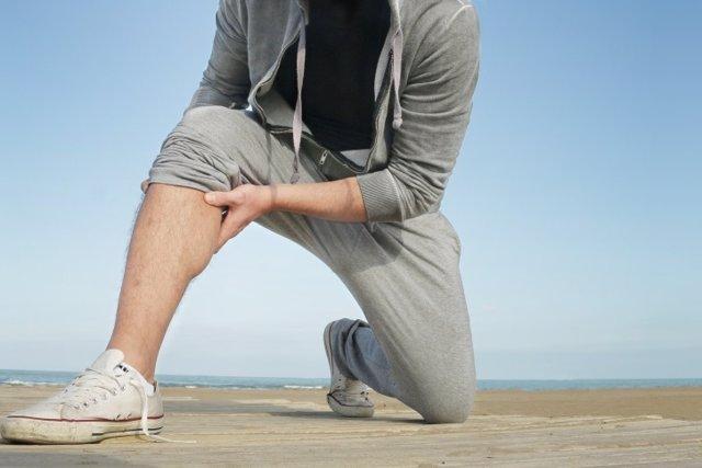 Dolor ligamento, pierna, lesión