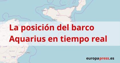 La ubicación del 'Aquarius' con más de 600 migrantes a bordo, en tiempo real