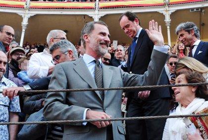 El Rey Felipe VI y Frank Cuesta coinciden en la plaza de toros de Las Ventas
