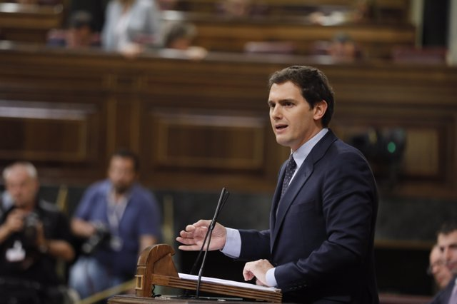 Albert Rivera interviene en la moción de censura a Rajoy