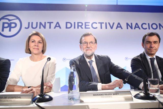 Rajoy durant la reunió de la Junta Directiva Nacional del PP