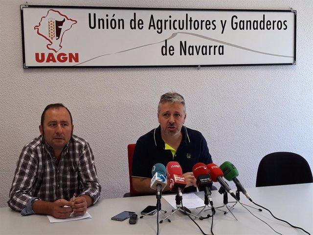 David Lezáun y Félix Bariáin, de UAGN, en rueda de prensa