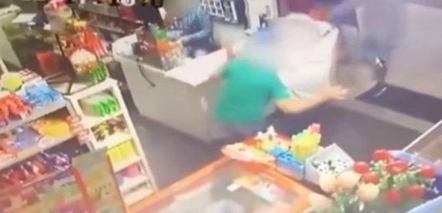 Asalto en un supermercado de Brasil