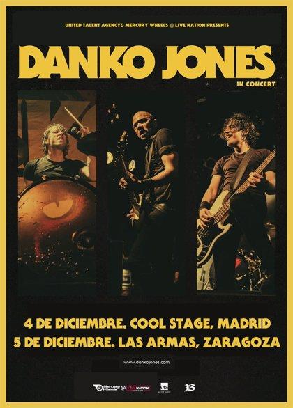 Danko Jones actuarán en diciembre en Madrid y Zaragoza