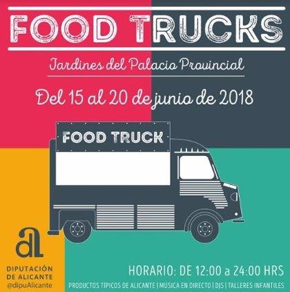 La Diputación de Alicante organiza una feria de 'food trucks' en el Palacio Provincial del 15 al 20 de junio