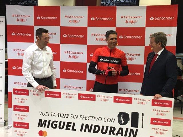 El exciclista Miguel Indurain