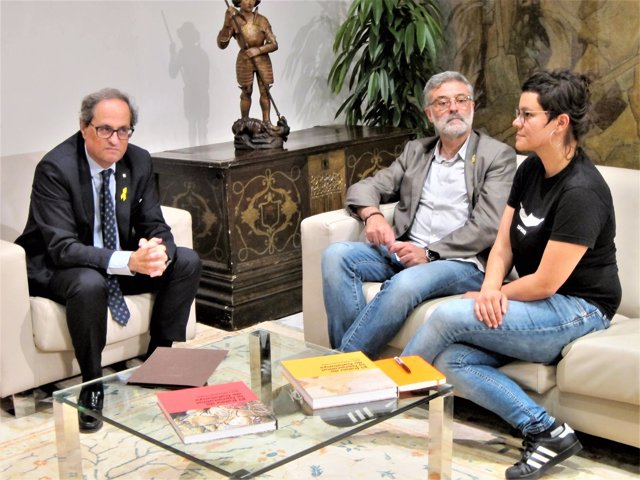 Pte. Quim Torra; Carles Riera, Natàlia Sànchez (CUP)