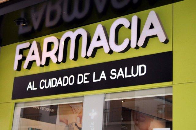 Fachada de una farmacia