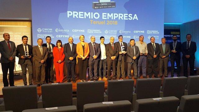 7c78c828bffa4 El Hotel Balneario de Ariño se alza con el Premio Empresa Teruel 2018