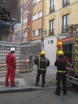 Valladolid. Incendio en el bar Colombo de Valladolid