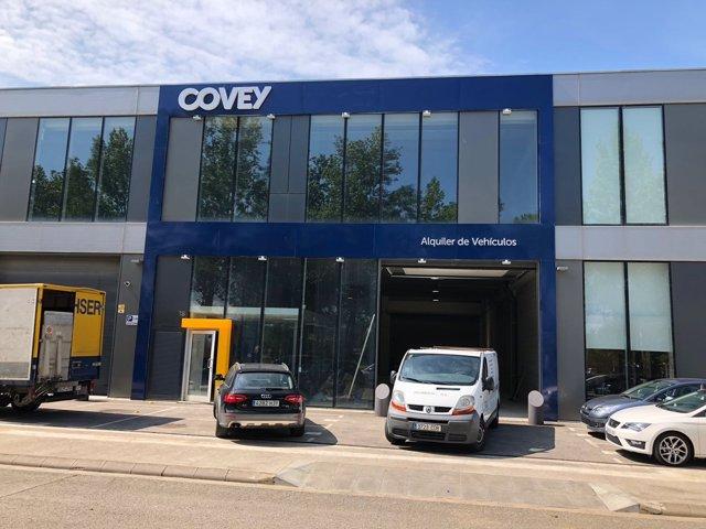 Nueva sede de Covey Alquiler, empresa de alquiler de vehículos, en Girona