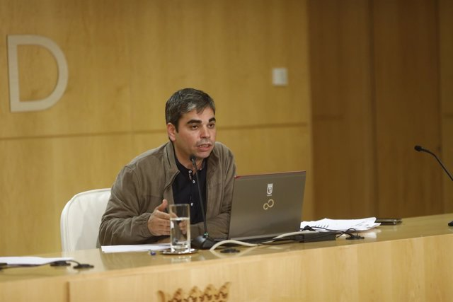 Rueda de prensa dl delegado de Economía y Hacienda del Ayuntamiento de Madrid
